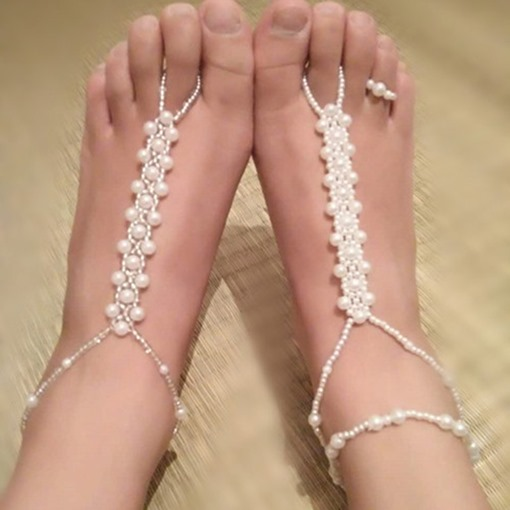 Vogue Artificial Pearls Beading Anklet