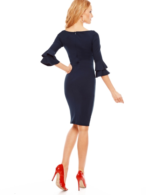 Wear to Work Three-Quarter Sleeve Women's Sheath Dress