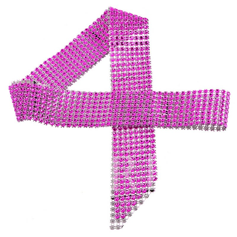 Stylish Long Mesh Design with Ultra Violet Necklace