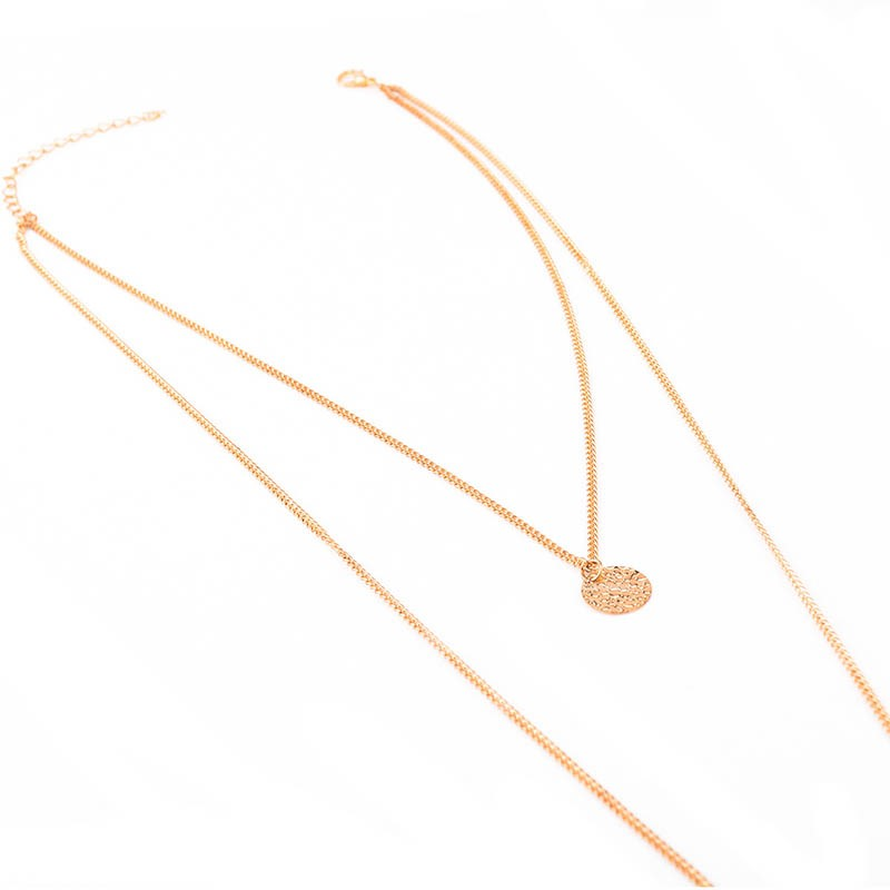 Double Layers Sequins Alloy Body Chain