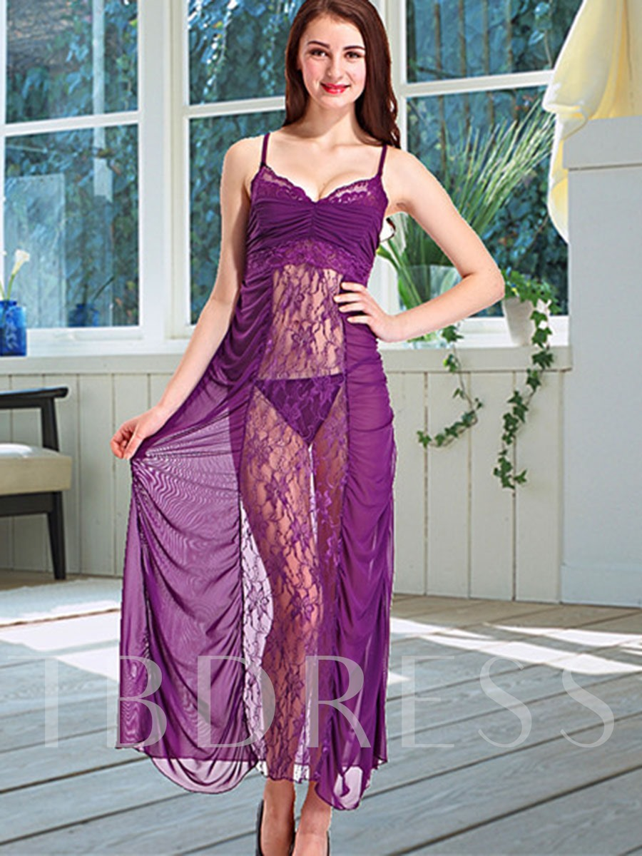 Solid Color Pleated Cut-Out Babydoll