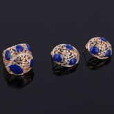 Blue Acrylic Design Hollow Carving Women's Jewelry Set