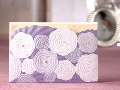 Style Side Fold Invitation Cards (20 Pieces One Set)