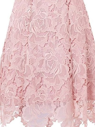 Sleeveless A-Line Pink Asym Women's Lace Dress