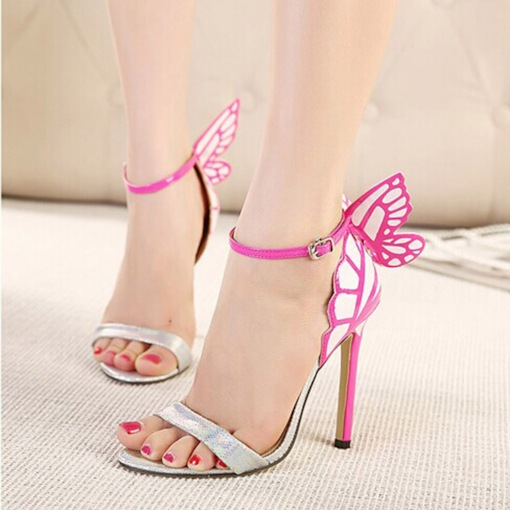 Women's Open Toe Butterfly Ankle Strap Sandals