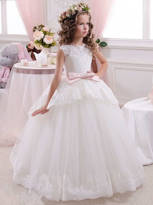 6bb7aaf2a3 Cute Flower Girl Dresses with Ivory in White - Tbdress.com
