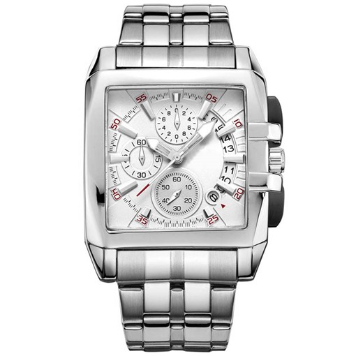 Quartz Movement Rectangle Dial Multifunctional Watch for Men