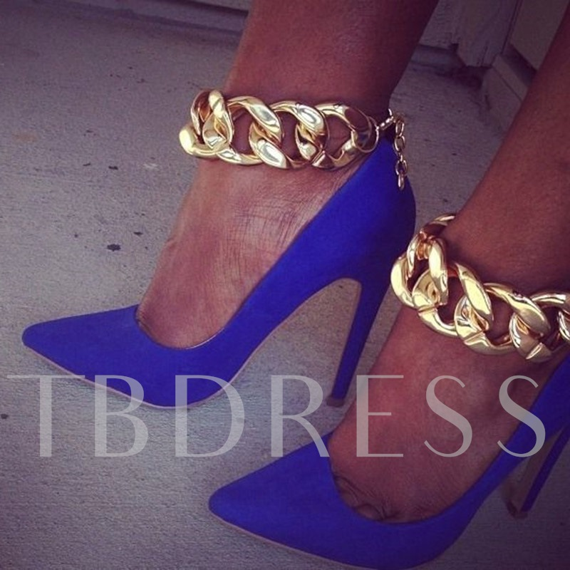 Image of Ankle Chain Pointed Toe Womens Pumps
