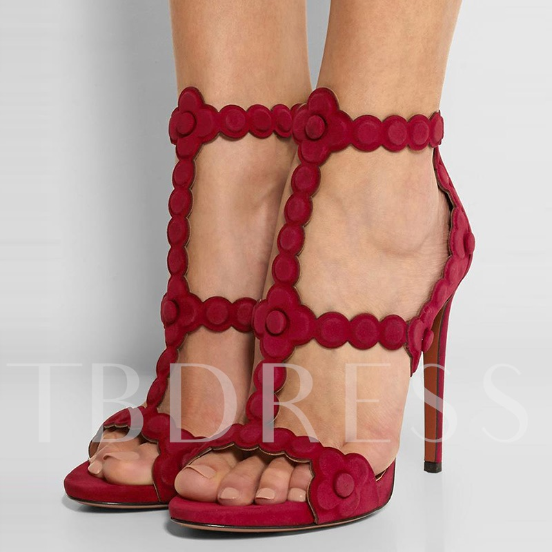T-shaped Peep Toe High Heel Women's Sandals (Plus Size Available)