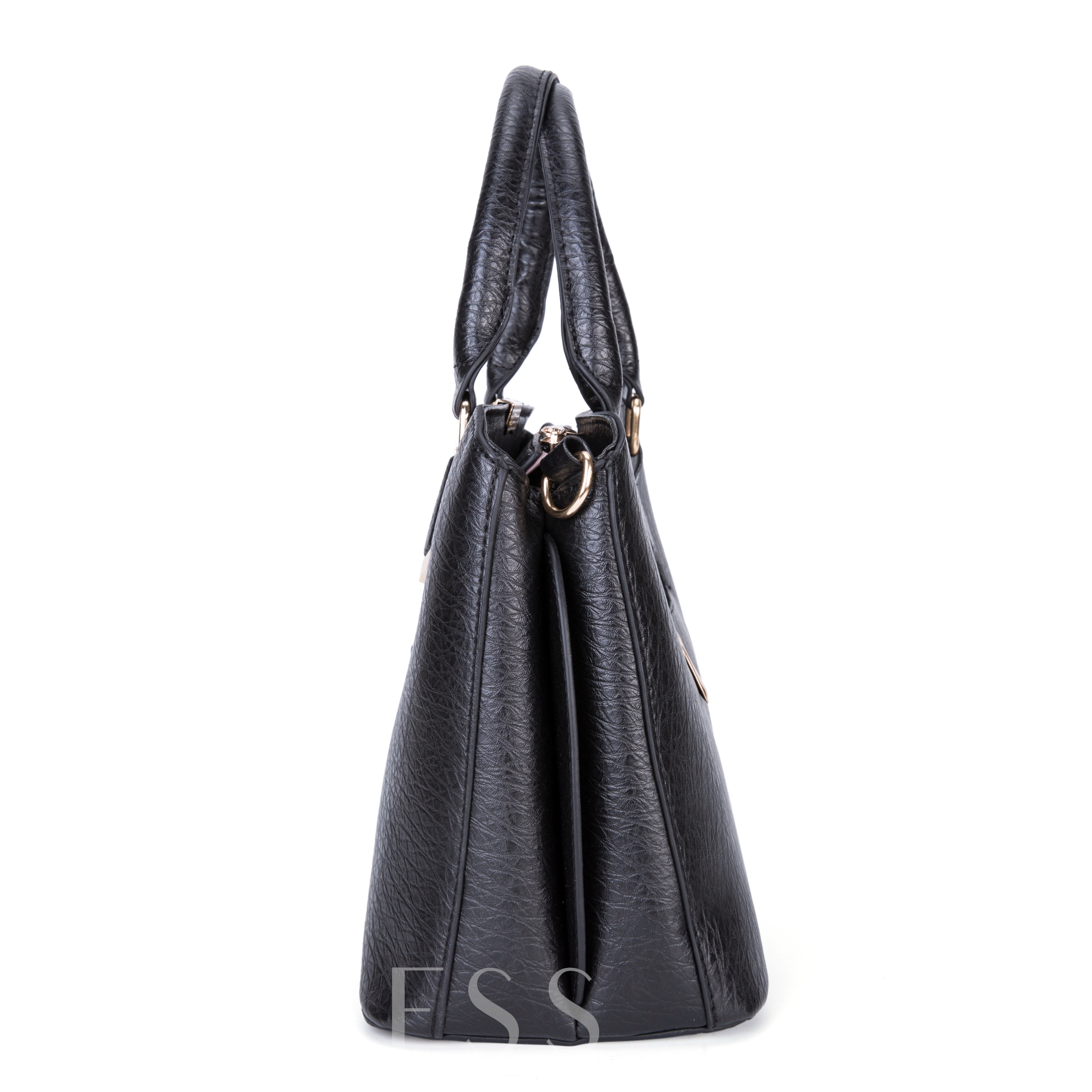 Solid Color Embossed Women Tote Bag
