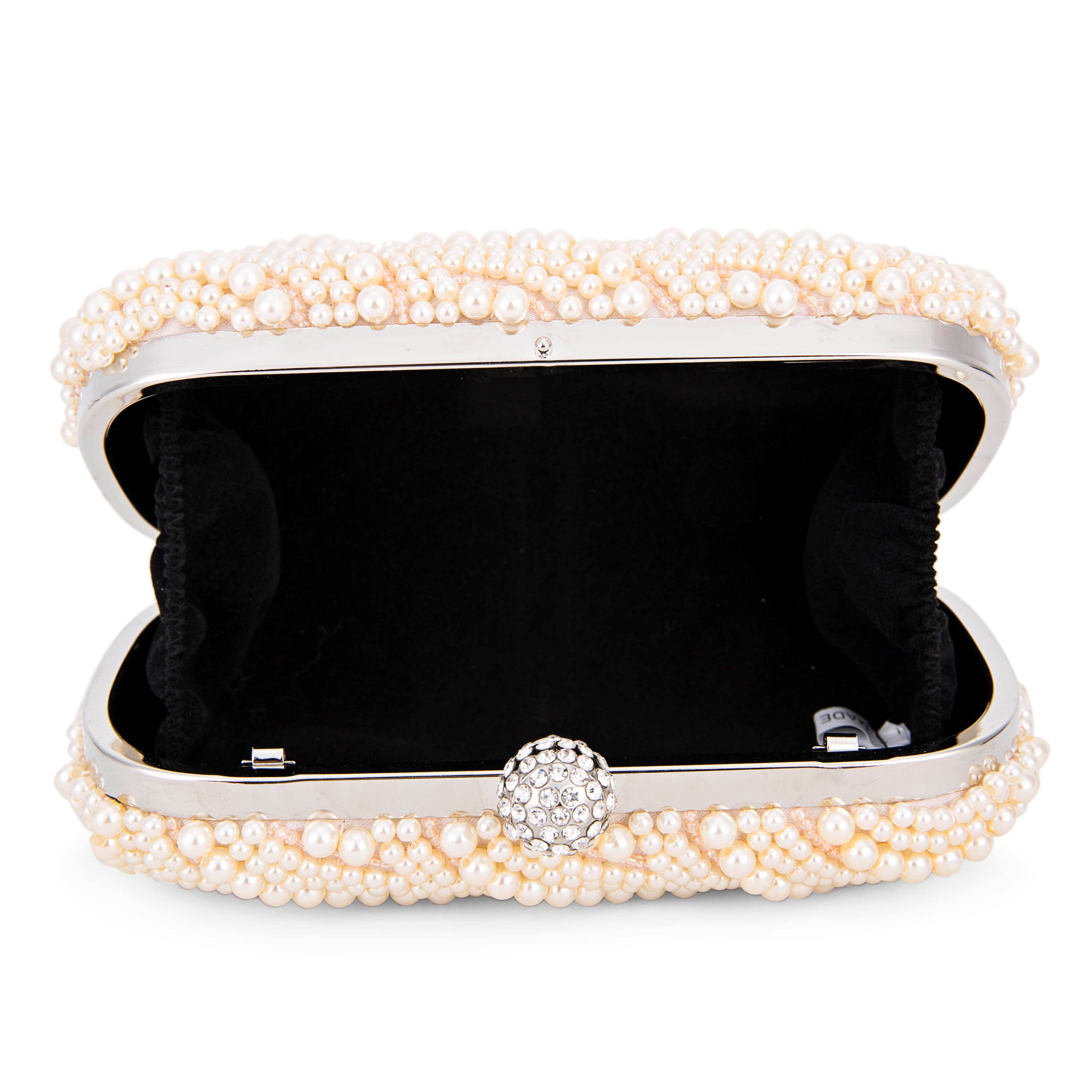 Rhinestone and Beads Decoration Women Evening Clutches