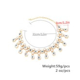 Alloy Diamante Water Droplets Tassels Anklet ( One Piece )