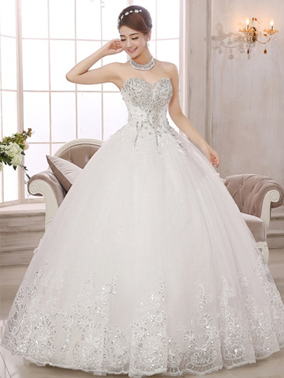 Sweetheart Beading Appliques Ball Gown Wedding Dress Sweetheart Beading Appliques Ball Gown Wedding Dress