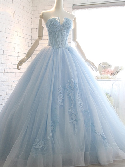 Appliques Ball Gown Sweetheart Beading Lace Court Train Quinceanera Dress