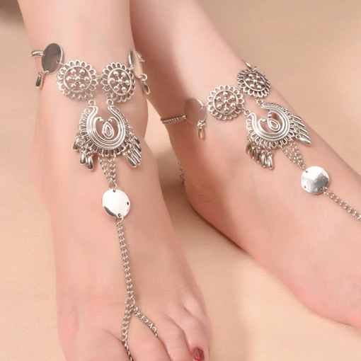 Geometric Plating Retro Single Anklet