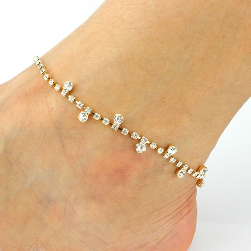 Full Drill Dazzling Anklet
