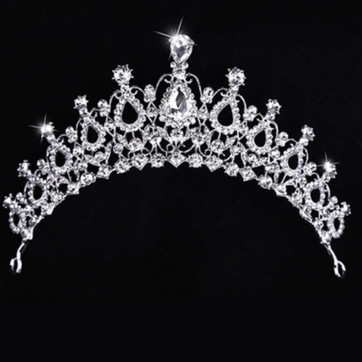 Clear Alloy with Rhinestone Wedding Tiara