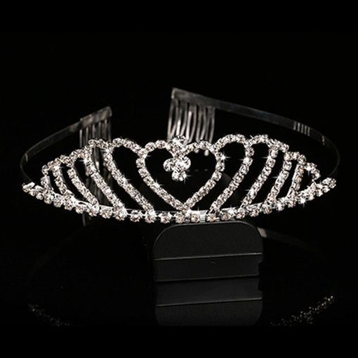 Celebrity Alloy with Silver Rhinestone Wedding Bridal Tiara