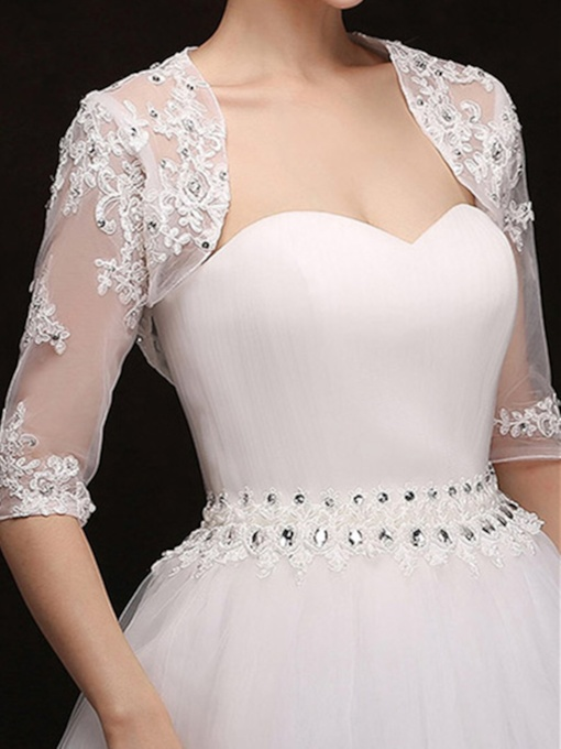Tulle Half Sleeve Wedding Jacket