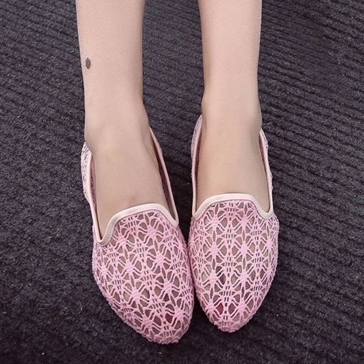 Lace Flat With Women's Slip-On