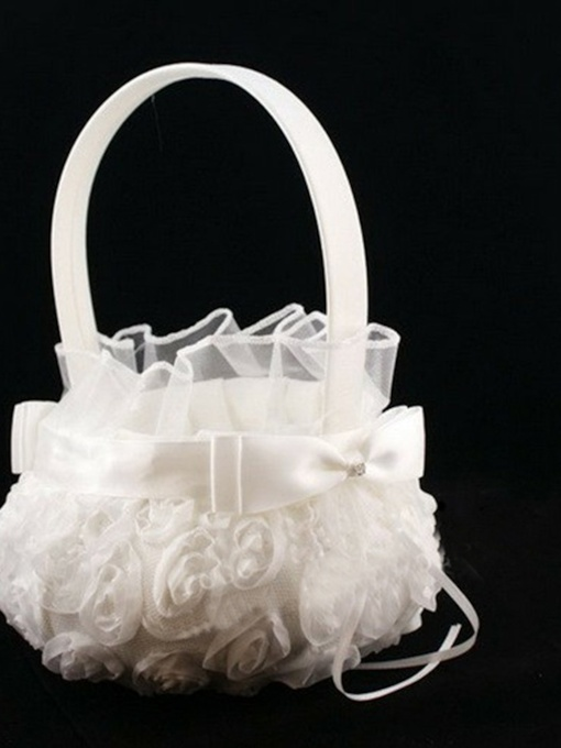 Rose stereo cloth Wedding Flower Basket