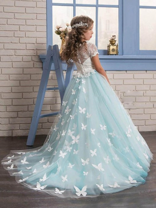 Lace Flower Girl Dress Butterfly Flower Girl Dress