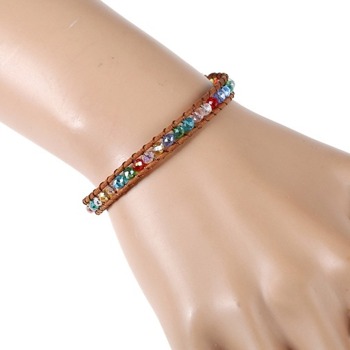 Hand Knitting Multilayer Beading Bracelet