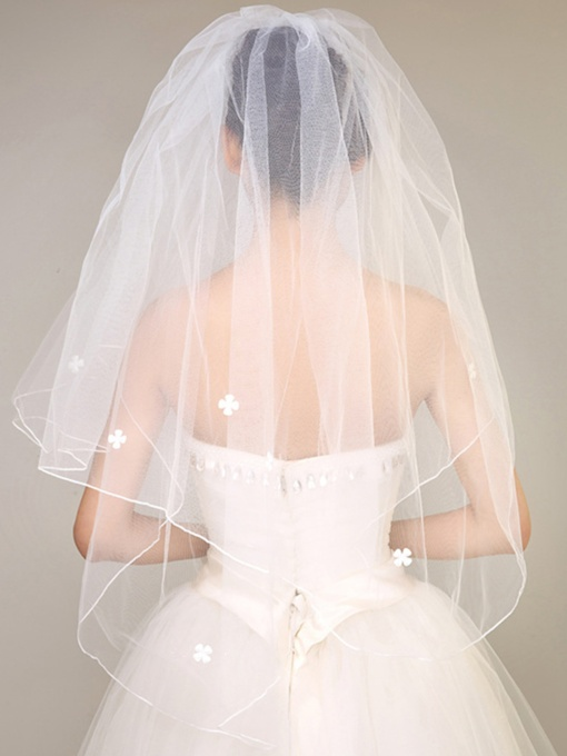 Flowers Elbow Wedding Veil