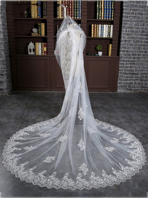 1T White Wedding Bridal Veils