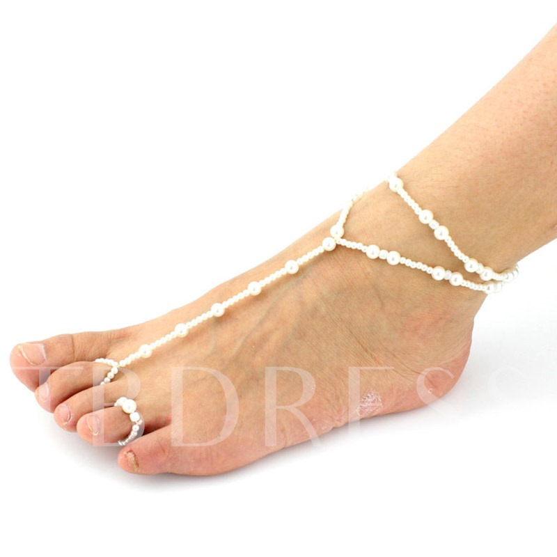 Rosary Pearl Beach Anklet