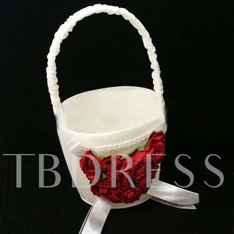 Satin Flower Basket