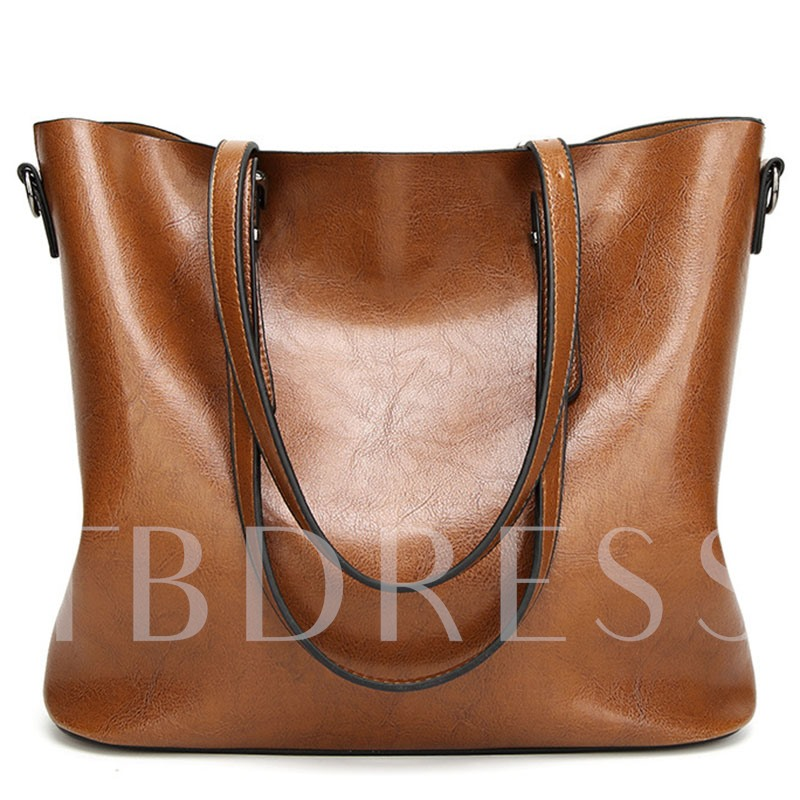 European Style Huge Space PU Shoulder Bag