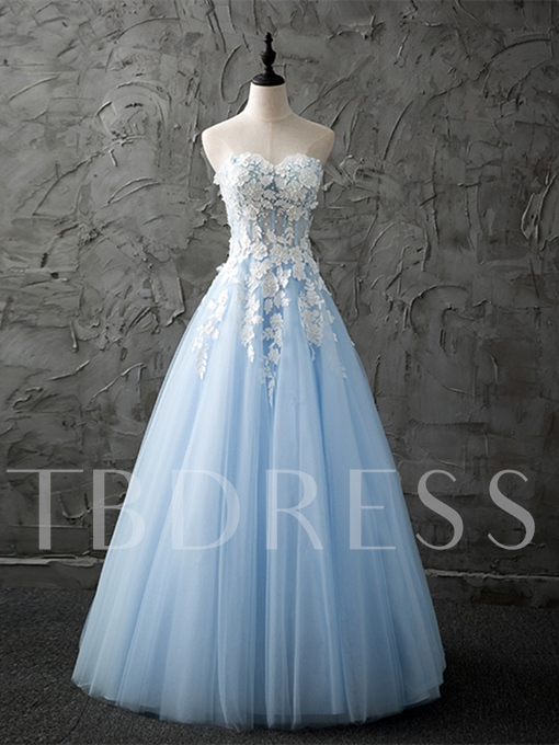 A-Line Sweetheart Sleeveless Beading Prom Dress