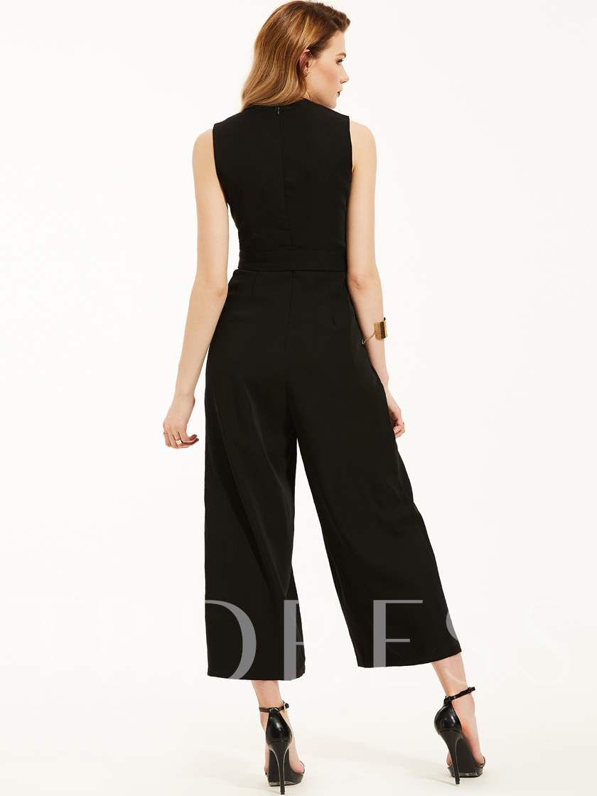 Ankle Length Wide Legs Women's Jumpsuit