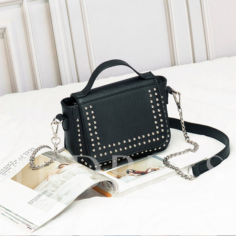 European Creative Rivets Square Shape Tote Bag