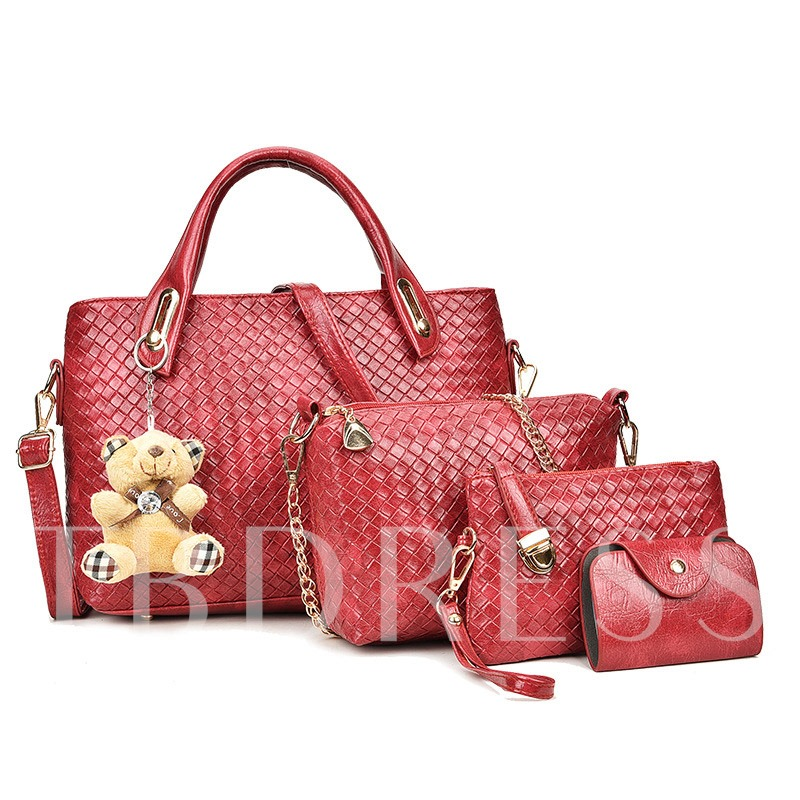 Latest Exquisite Weaving Bag Sets(4 Bags)