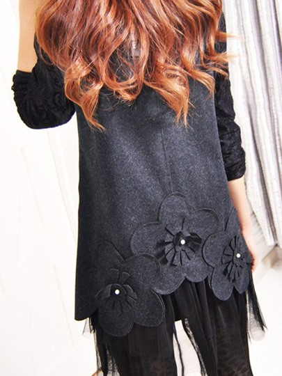 Lace Patchwork Floral Women Day Dress