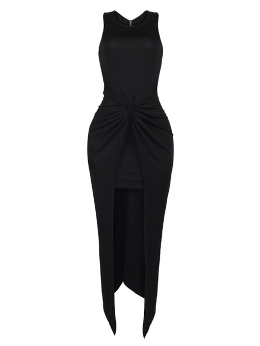 Ruffle Double-Layered Women's Maxi Dress