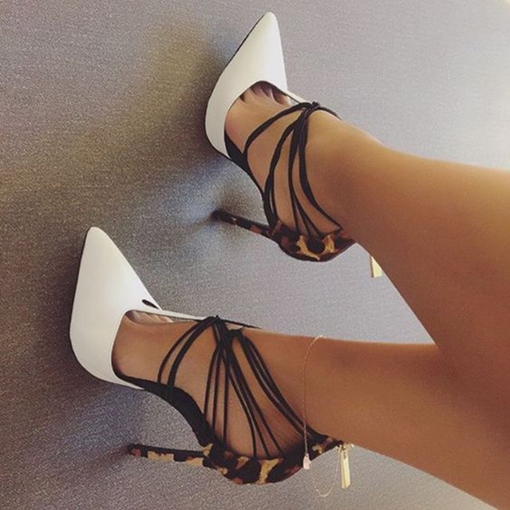 Pointed Toe Two Part Stiletto Heels