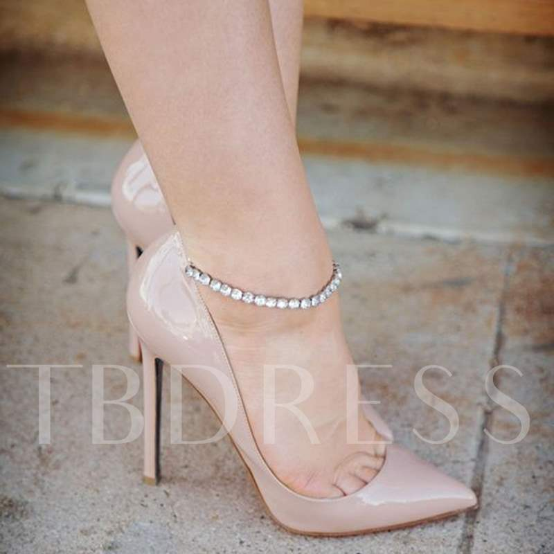 Ankle Wrap Pointed Toe Solid Color Stiletto Heels