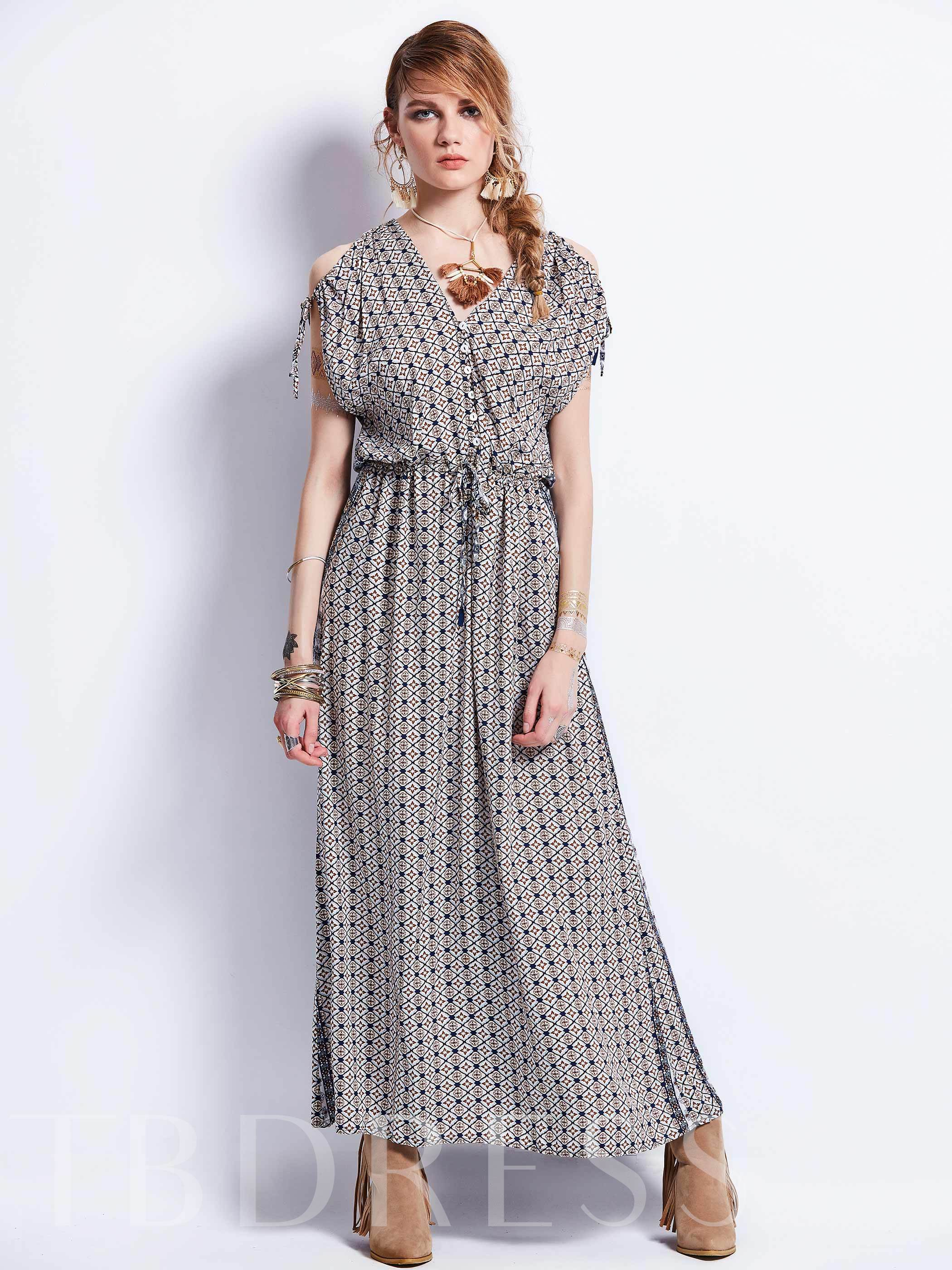 Buy Coffee Cold Shoulder Women's Maxi Dress, 12805084 for $14.99 in TBDress store