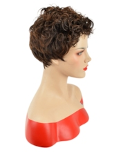 Capless Curly 120% Short Wigs