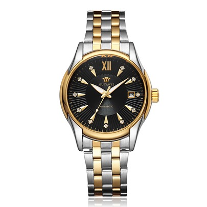 Alloy Strap Wind Round Mechanical Watch for Men