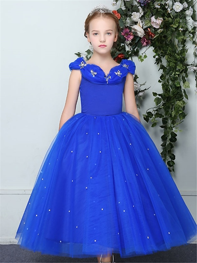 Straps Pick-Ups Beading Girl Party Dress