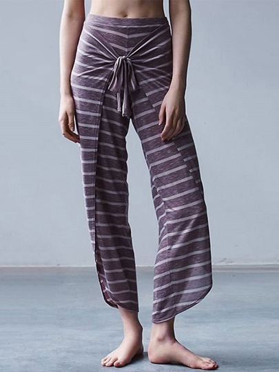 Stripe Loose Women Pants