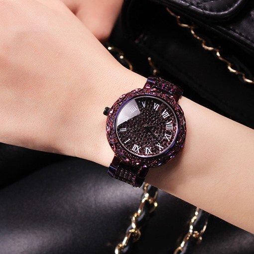 Roman Numeral Design Ultra Violet Watch