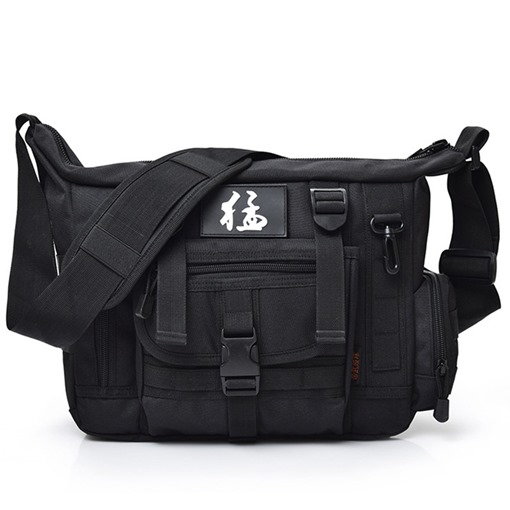 Outdoor Solid Color Camouflage Canvas Men's Bag