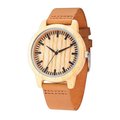 Quartz Movement Simple Wooden Dial Men's Watch