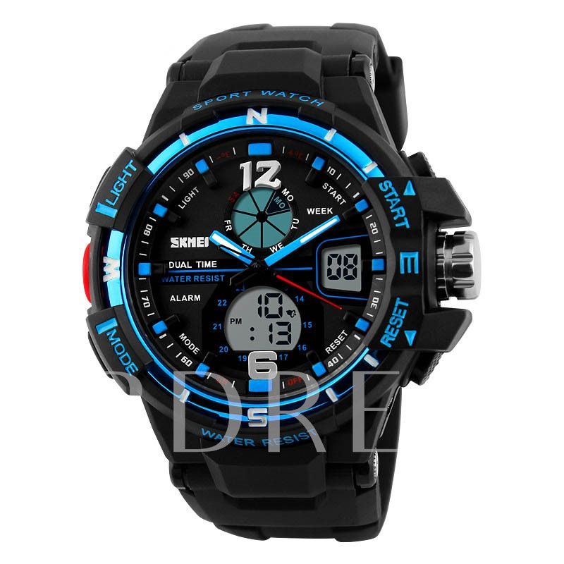 Large Dial Electronic Movement Men's Sports Watch
