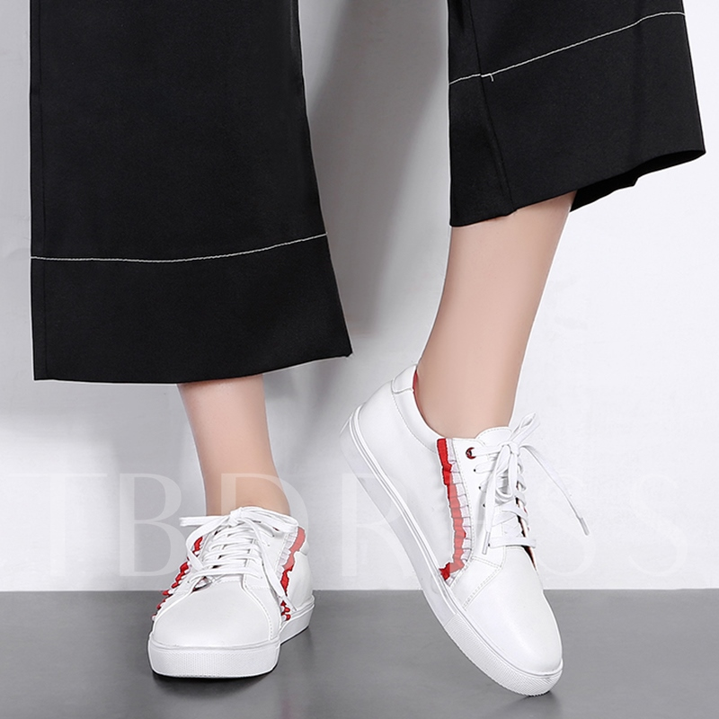 Green Red Flat Women's Foundation White Sneakers
